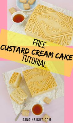 Giant Custard Cream Cake tutorial, tastes like the biccys and is deceptively easy to make, all that's left is to put the kettle on! :)