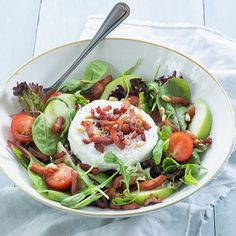 Shortbread, Nutella, White Balsamic Vinaigrette, German Cucumber Salad, Three Bean Salad, Salad Recipes, Healthy Recipes, Healthy Meals, Avocado