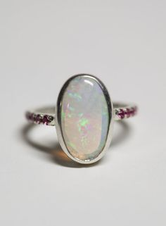 Oval Brazilian Opal & Tourmaline Sterling by MeitalSteinberg, $232.00