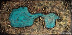 3D Art, Original Acrylic Desert Sculptural Painting