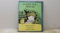 I Love You Mouse, 1976, John Graham, Tomie de Paola, vintage kids book