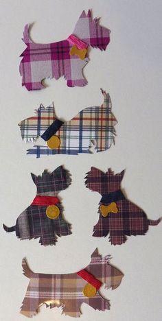 Stylish Handmade Tartan Scottie Dog Decorative Magnets by pannya