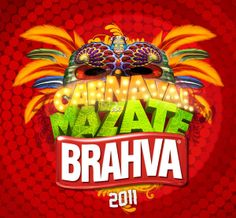 Carnaval de Mazate Brahva by Pablo Romero, via Behance Ad Design, Flyer Design, Logo Design, Graphic Design, 3d Typography, Lettering, 3d Type, Carnival Masks, Creative Design
