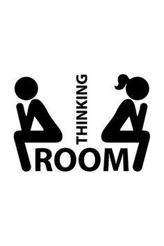 Vente Stickers / 15821 / Design et city / Sticker Thinking room Noir