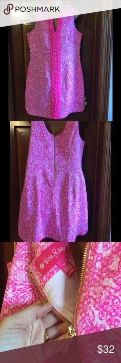 LILLY PULITZER DRESS Lilly Pulitzer for Target dress.  This hot pink dress is in EUC.  Love this style! Lilly Pulitzer Dresses