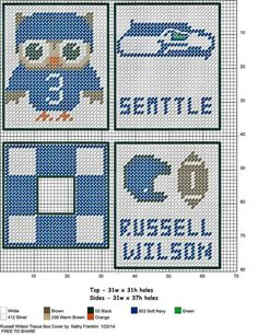 Cowboys made pattern Plastic Canvas Coasters, Plastic Canvas Tissue Boxes, Plastic Canvas Crafts, Plastic Canvas Patterns, Plastic Sheets, Box Patterns, Beading Patterns, Tissue Box Covers, Tissue Holders