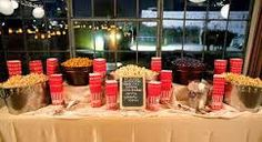 Snack Bar Majestic Day Event Planners Movie Wedding Ideas