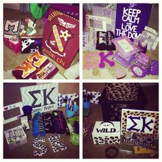 Love these Sigma Kappa gifts/crafts!