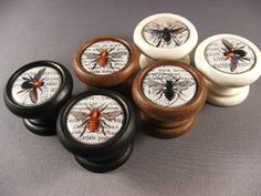 Queen Bee Decorative Knobs Pulls Handles...Price by KnobTreasures, $7.95