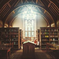 Girton College library, Cambridge University.