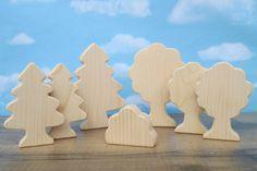 Wooden trees  Wooden toy trees  Wooden toys for by WoodenYaPlay