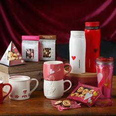Starbucks St. Valentine's Limited Tumbler & Mug & Dessert, Japan, 2014