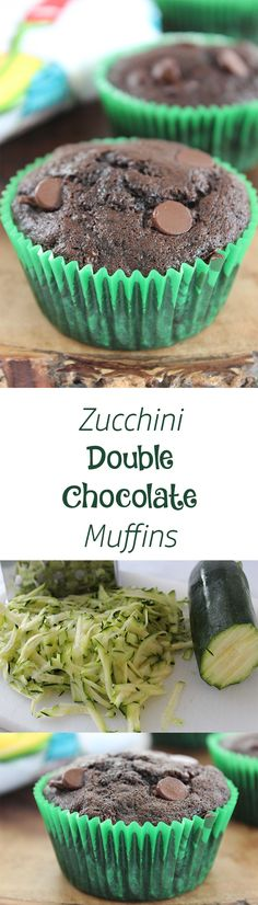 Zucchini Double Chocolate Muffins  --- yummy dessert recipe!