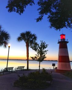 """The Mount Dora Lighthouse, dedicated in 1888, is one of three registered fresh water lighthouses currently operating in the state of Florida! (And only 25…"""