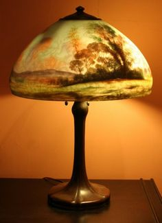 Handel lamp 110 handel lamp wtropical sunset scene arts and handel lamp google search mozeypictures Choice Image