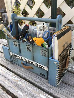 10 0均材料で作った工具箱です
