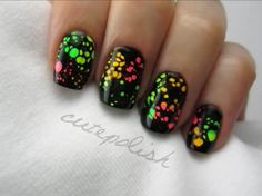 Water Spotted Nails by Cutepolish