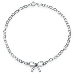Bling Jewelry Bling Jewelry 925 Sterling Silver Bow Ribbon Bracelet 7.5 Inch | Bluefly.Com