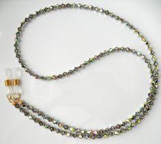GLAMOROUS Vitrail Medium Swarovski Crystal Eyeglass Chain Lanyard - Swarovski Crystal Glasses Chain, Reading Glasses Chain, Sunglasses Chain