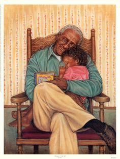 Grandpa's Little Girl by Marla Oliphant is just one of the many fine art prints for sale at Christ-Centered Art. Art Black Love, Black Girl Art, Art Girl, Illustrations, Illustration Art, African American Artwork, Black Art Pictures, Arte Sketchbook, Black Artwork