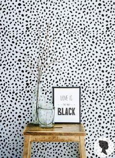 SALE 20% Dalmatian Spot Pattern Peel and Stick Removable Wallpaper M1002