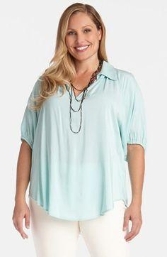 Karen Kane Split Neck Knit Top (Plus Size) available at #Nordstrom
