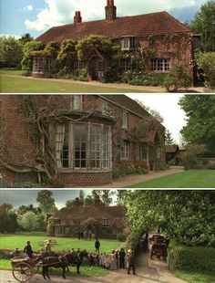 """Howard's House / Stills from Howard's End // The """"Howards End"""" house in the countryside is Peppard in Rotherfield Peppard, Oxfordshire, and the Wilcoxes's house is nearby English Country Cottages, English Country Style, English Countryside, Cozy Cottage, Cottage Homes, Cottage Gardens, Cabana, Howard House, Beautiful Homes"""