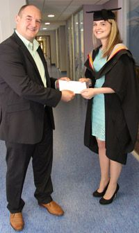 Kate Berry, BSc Hons Environmental Science, received the Lancaster Environment Centre Innovation Undergraduate Prize 2012, sponsored by The Reach Centre. The REACH Centre acts as a central hub for REACH services and provision. It currently runs workshops and seminars, offers direct consultancy and can support industry in the delivery of all REACH related activities. These services enable companies to achieve compliance and help support long-term sustainable and successful business models.