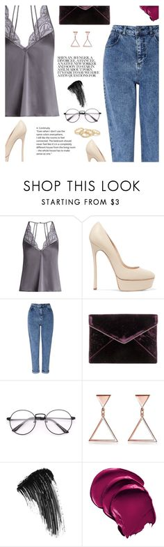 """With night"" by clo-23 ❤ liked on Polyvore featuring Fleur of England, Casadei, Miss Selfridge, Rebecca Minkoff and Eyeko"