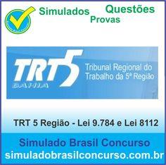 Boa noite Concurseiros, aproveitem!!! Estamos com Simulados e Provas do TRT 5 Região (BA), várias matérias.  http://simuladobrasilconcurso.com.br/simulados/concursos  Descubra!!! Curta!!! Compartilhe!!!  Muito Obrigada e Bons Estudos, Simulado Brasil Concurso  #simuladobrasilconcurso, #questoesTRT, #provasTRT, #simuladosTRT