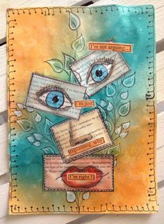 Art Journal Page: Shattered