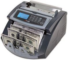 The currency counter reads US money only. The ValuCount™ can count bills and detect counterfeit money. This currency counter can be easily transported to different locations. Money Counter, 100 Dollar Bill, Money Bill, Cash Money, Counting Money, Money Machine, Counter Design, Need Cash, Ultra Violet