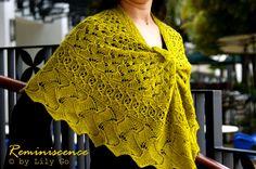 Reminiscence Shawl Knitting Pattern in PDF File
