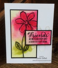 Klompen Stampers (Stampin' Up! Demonstrator Jackie Bolhuis): More Fun With Watercolor Paper & Water