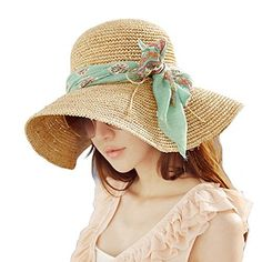 Wowlife Girl Brim Roll-up Crocheted Hat Bohemia Sun Hat for Holiday Travel Beach