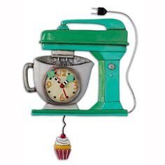 P1370_Vintage_Mixer_Green_Clock