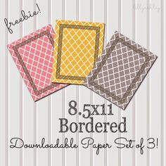 The Latest Find's Make It Create - DIY, Tutorials, Recipes, Digital Freebies: Friday Freebie...8.5x11 Bordered Quatrefoil Downloadable Papers