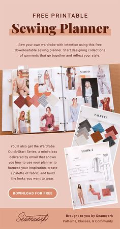 Sewing Hacks, Sewing Crafts, Sewing Projects, Sewing Tips, Sewing Patterns Free, Free Sewing, How To Make Clothes, Making Clothes, Planner Organization