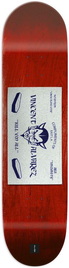 Chocolate Alvarez Calling Card 8.0 Skateboard Deck - Skate Shop > Decks > Skateboard Decks