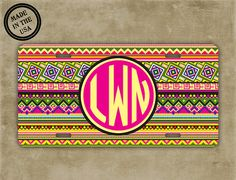 Personalized monogrammed license plate  Aztec by ToGildTheLily, $15.99