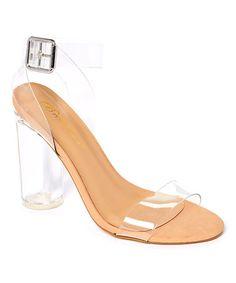 Loving this Clear Vienna Block-Heel Sandal Pump on #zulily! #zulilyfinds