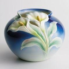 Franz Porcelain Double Calla Lily Vase
