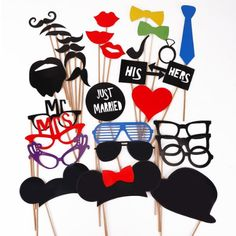31PCS Colorful Props On A Stick Mustache Photo Booth Party Fun Wedding Christmas Birthday Favor HOMEGIFT http://www.amazon.com/dp/B00HRS1D40/ref=cm_sw_r_pi_dp_iwaSub1KRA3A3