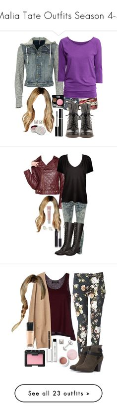 """""""Malia Tate Outfits Season 4-5"""" by travelerofthenight ❤ liked on Polyvore featuring Denim & Supply by Ralph Lauren, Free People, H&M, Steve Madden, SUQQU, Mullein & Sparrow, Emilie Morris, Chanel, Bar III and Current/Elliott"""