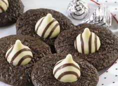 """tuxedo hug cookies....easy to make during the holidays. One of my """"go to"""" recipes!"""