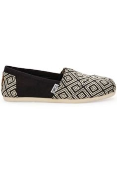 5e6ee40913a A bold geometric weave marks this cool take on the Classic. TOMS toe-stitch