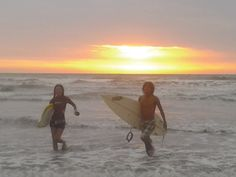 After riding last wave of the day