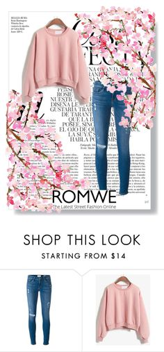"""""""romwe"""" by lena123-1 ❤ liked on Polyvore featuring Frame Denim and Whiteley"""