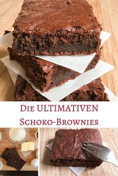 Mein Rezept für die ultimativen Schoko-Brownies, die bestimmt das Herz jedes Sc… My recipe for the best chocolate brownies that will make the hearts of all chocolate lovers beat faster! Brownie Recipes, My Recipes, Sweet Recipes, Baking Recipes, Cookie Recipes, Cupcake Recipes, Delicious Recipes, Chocolate Chip Cookie Dough, Chocolate Brownies