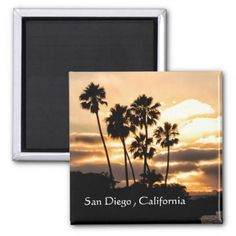 #Sunset Silhouette In San Diego Magnet - #beach #travel #beachlife